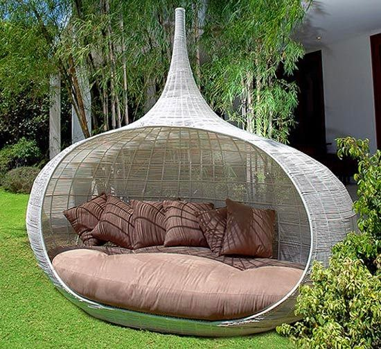 decora tu jardn con esta original hamaca semicircular - Hamacas Jardin