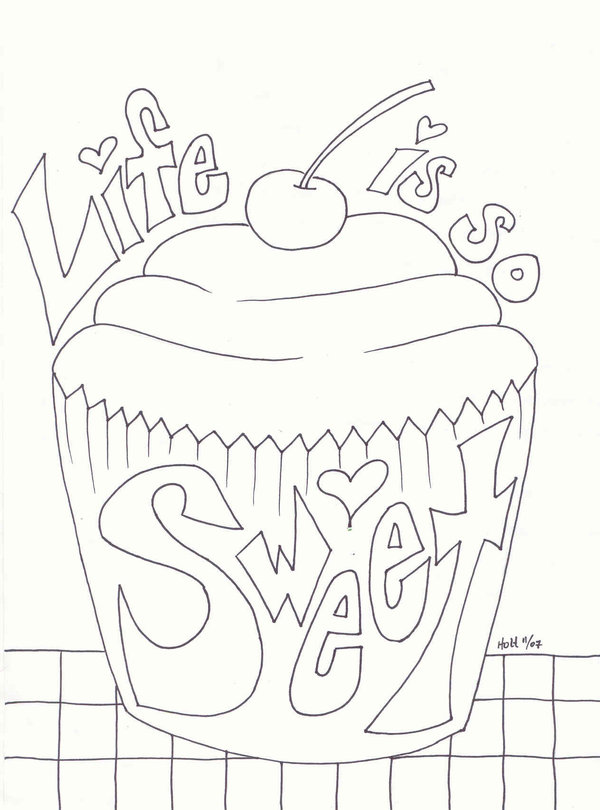 Cupcake Pictures To Color