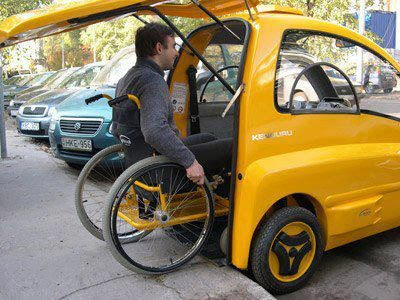 Kenguru Electric Car Designed For Wheelchair People