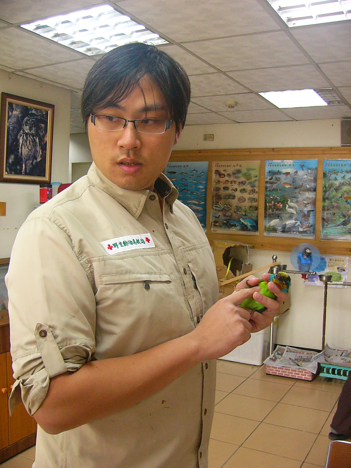 特有生物保育中心的獸醫