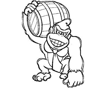 #9 Donkey Kong Coloring Page