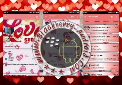 BBM Mod Tema Love Story Terbaru v2.9.0.51 + Backup Free Sticker