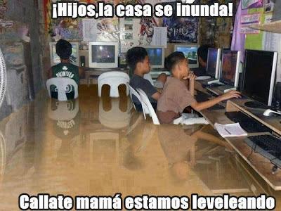 gamers inundados humor