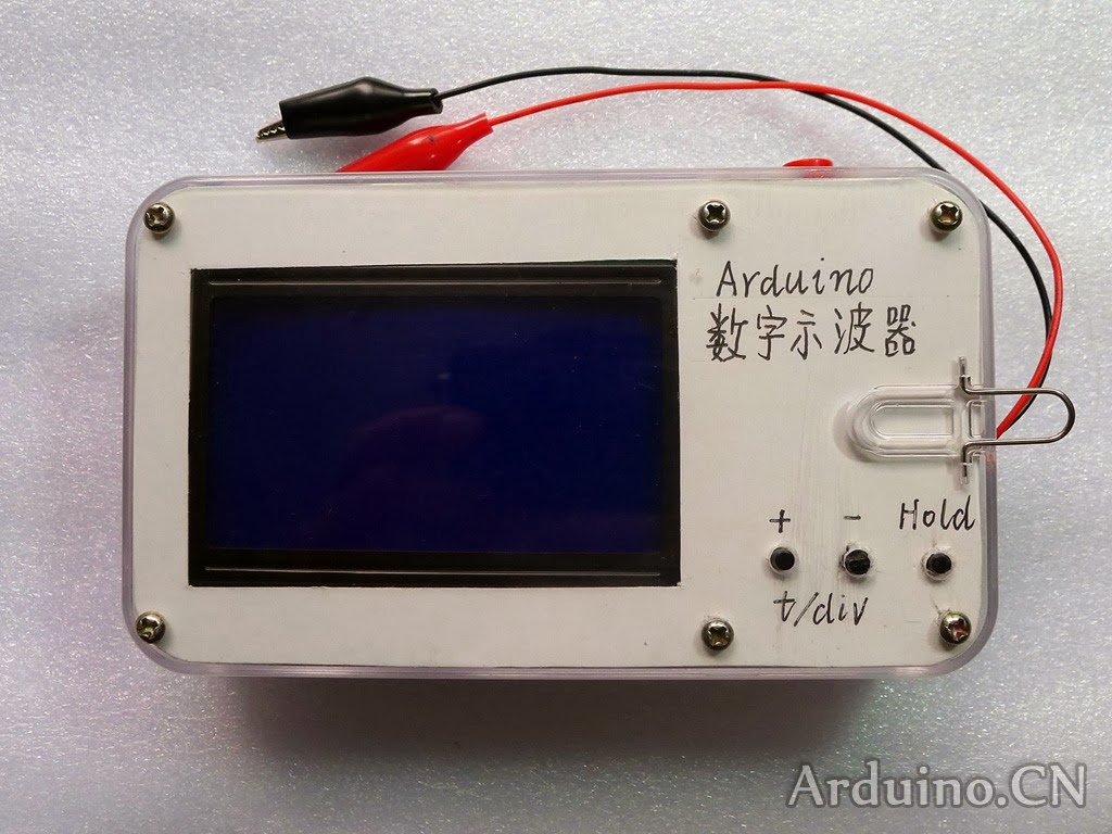 Starting robotics with arduino digital oscilloscope based