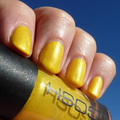 Gosh Yellow Bombay Nail Polish Swatch