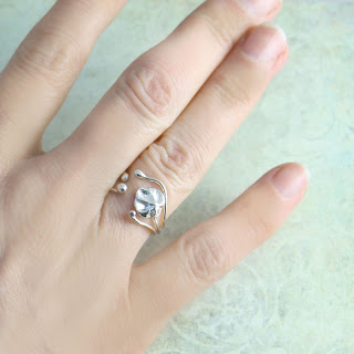 spring ring in sterling silver