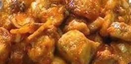Pollo en salsa agridulce