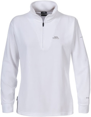 Trespass Women's Louviers AirTrap100 1/2 Zip Fleece Jumper - White