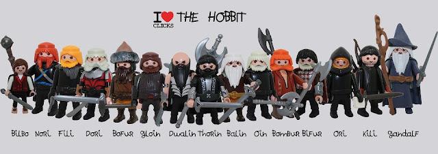 Los personajes de El Hobbit hechos clicks