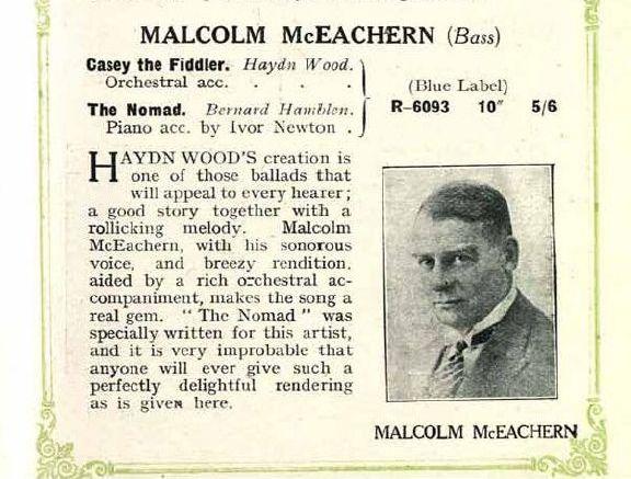 AUSTRALIAN BASS MALCOLM MCEACHERN (1883-1945) CD