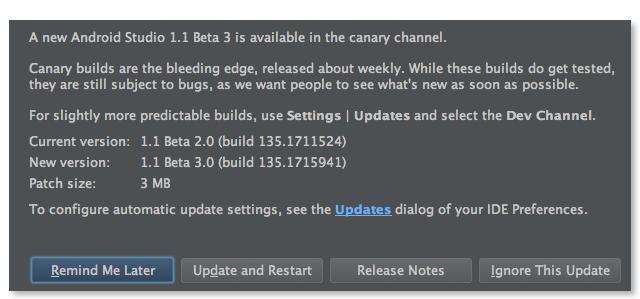 Android Studio 1.1 Beta 3