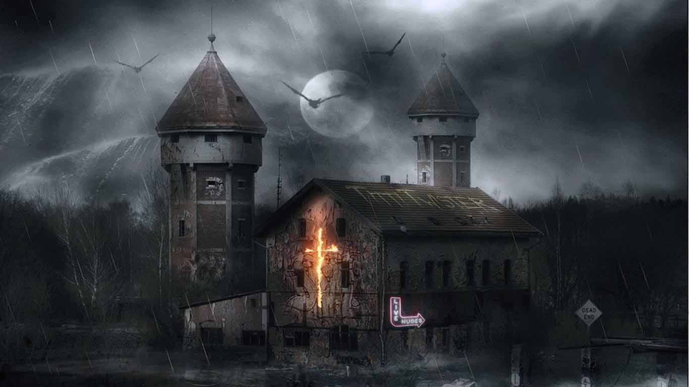 haunted house wallpaper - photo #10