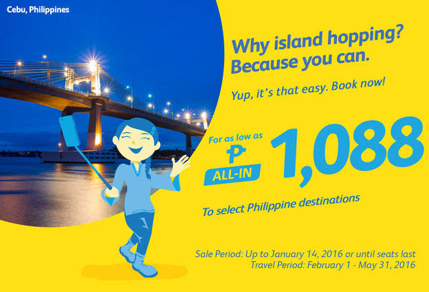 Promo Flights on Selected Philippine Destinations 2016
