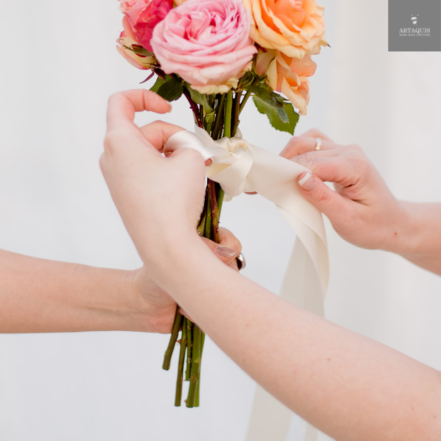 A DIY bouquet tutorial with fourseasons dekoration - 19
