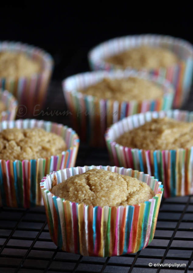 banana almond meal muffins  | healthy breakfast muffins(butterless,no oil)