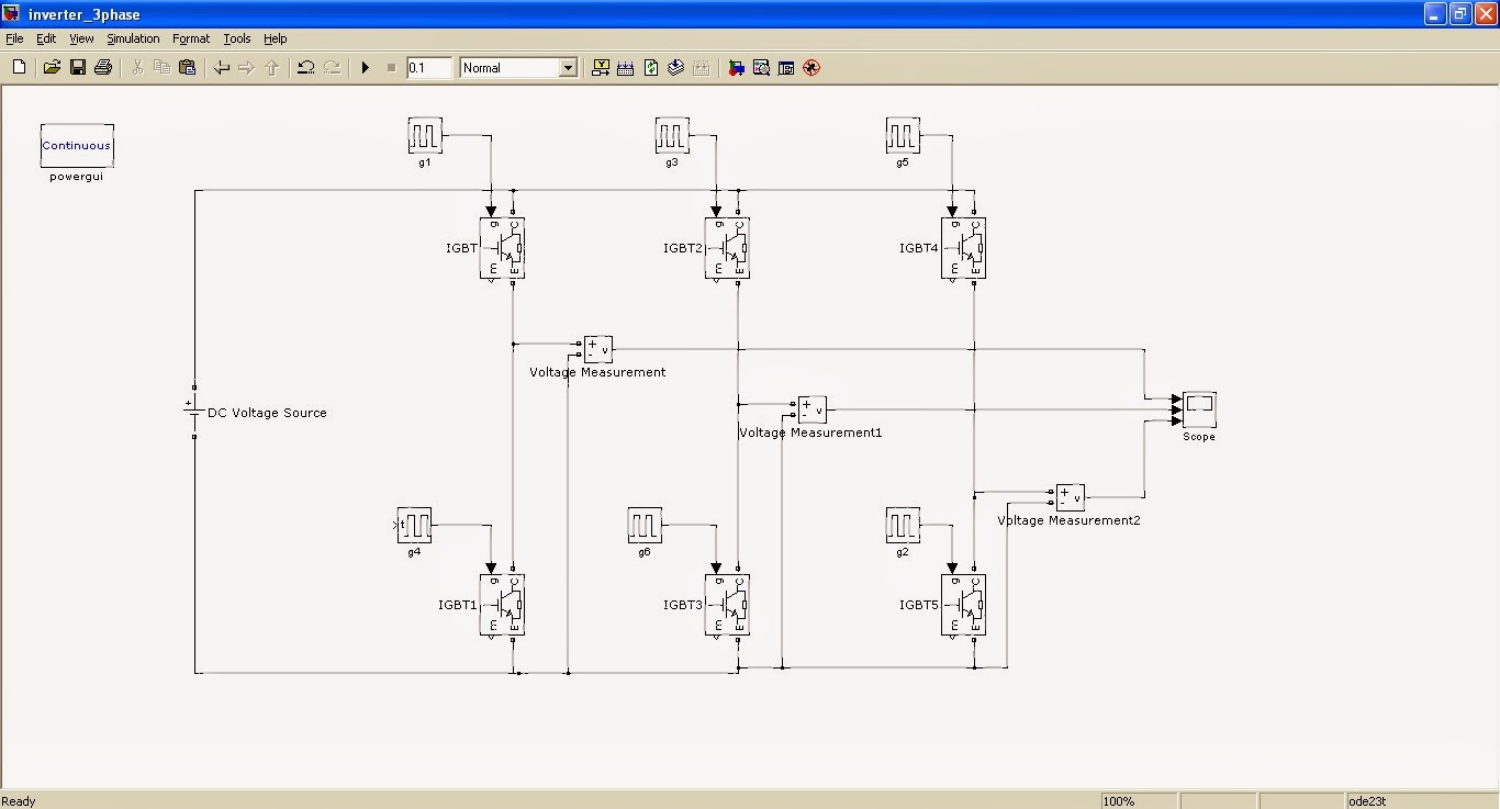 3 phase inverter simulation using simulink speaking technology