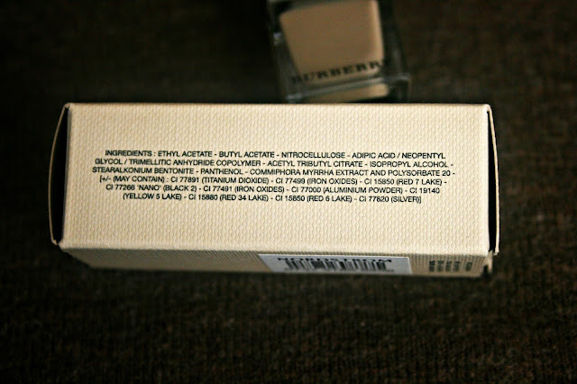 Burberry beauty nail polish in mink Ingredients