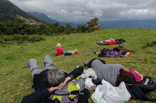 Una siesta con vistas espectaculares  en el camino a las cascadas de la Chorrera, cerca de Choachí.