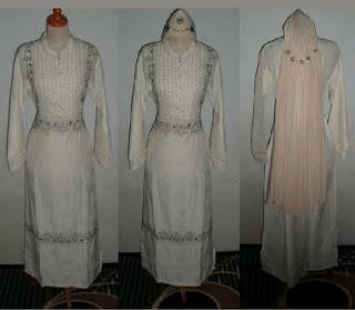gamis walimah pengantin muslimah