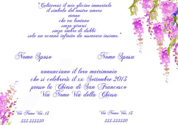 Matrimonio tema glicine l 39 angolo della posta for Glicine disegno