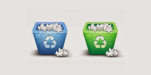 3D Recycling Bin Icon with Photoshop
