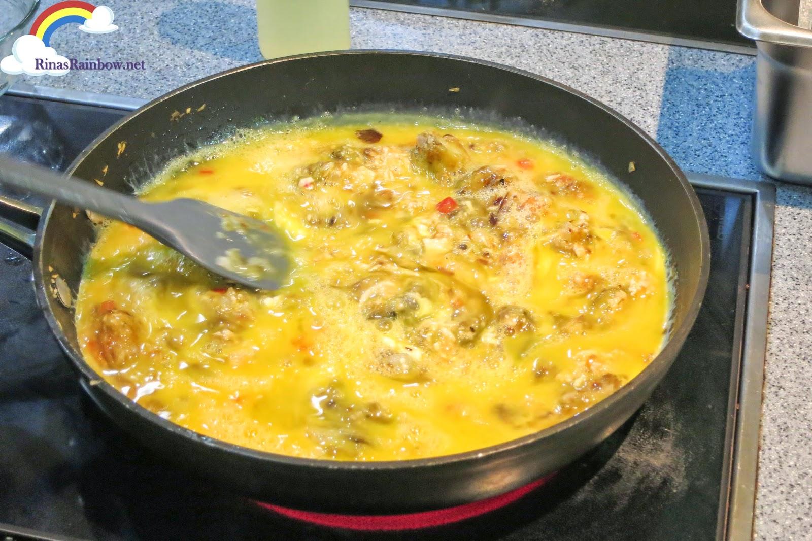 cooking fritata