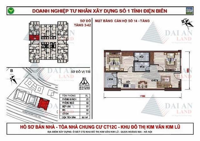 Căn 14 - Chung Cư Kim Văn Kim Lũ CT12C