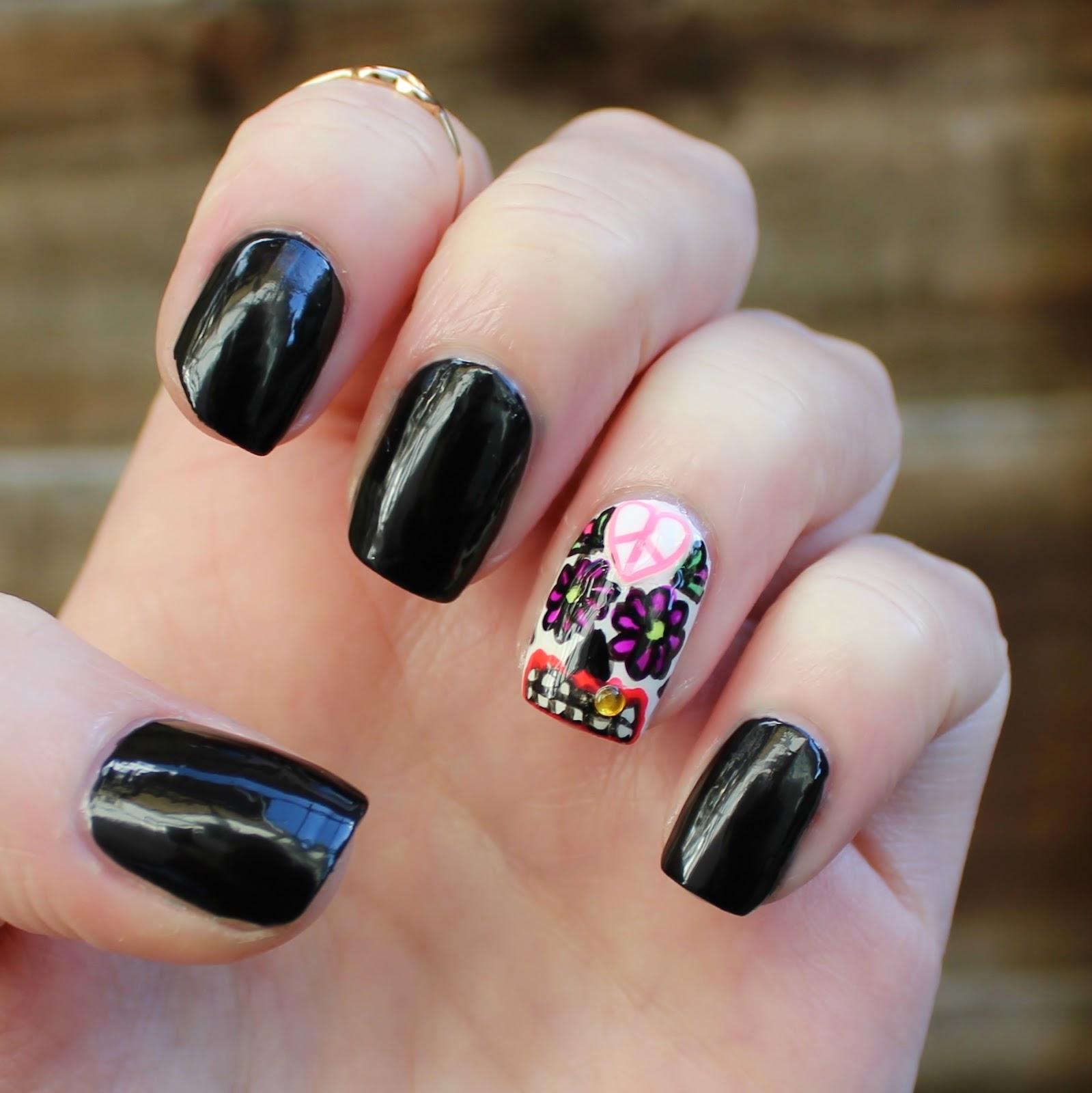 Dahlia Nails: Calavera Catrina