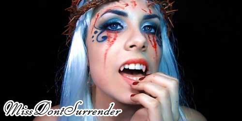 maquillaje vampira de victoria frances final
