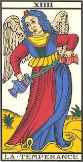 Arcano 14: A Temperança, carta do tarô, tarot, baralho de marselha