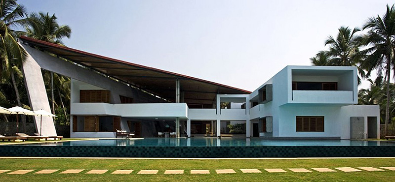 If It 39 S Hip It 39 S Here Archives Modern Luxury Home In India Boasts An Enormous Infinity Pool