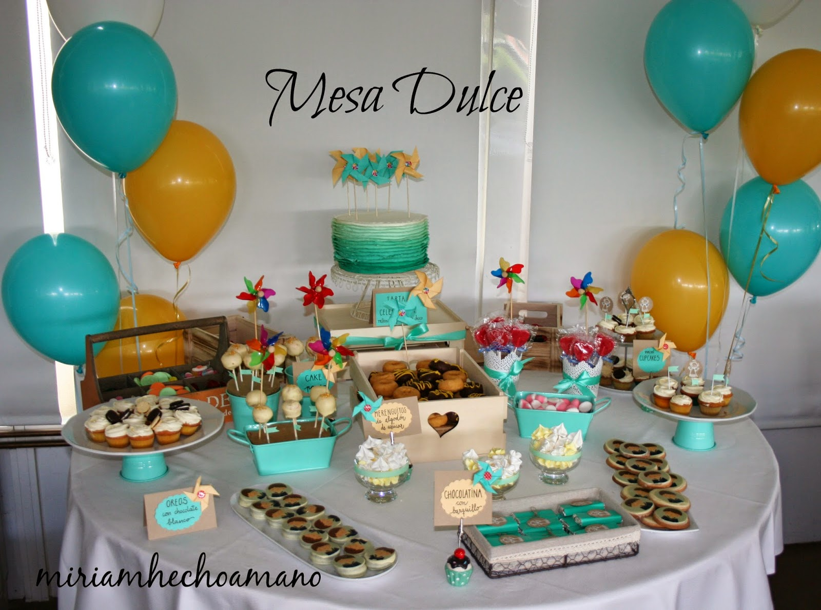 Miriam hecho a mano fiesta de comuni n para ni o mesa dulce - Mesas para comuniones ...