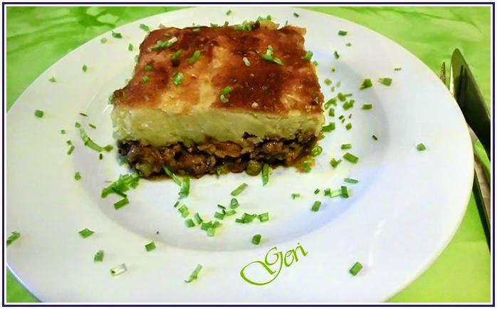 Cottage Pie (Hackfleisch-Kartoffelstock-Pie)
