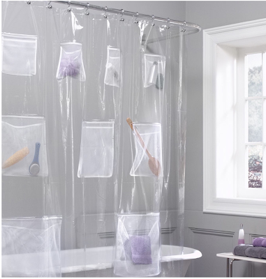 shower curtain with nine pockets