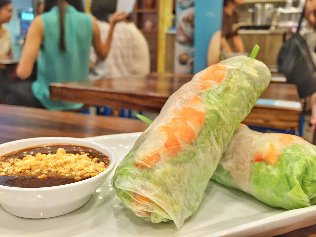 Pho Street - Fresh Summer Rolls with Prawn, Pork Belly & Fresh Herbs