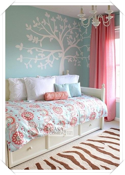 Azul para meninas Decoração de quartos ~ Casa Comida e  ~ Quarto Rosa E Turqueza