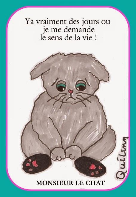dessin de chat, le sens de la vie