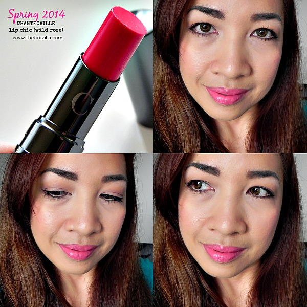 chantecaille, spring 2014, lip chic, wild rose, swatch, review