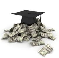 Picture of graduation cap on money