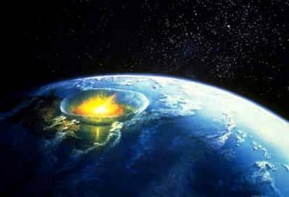 efek asteroid menabrak bumi