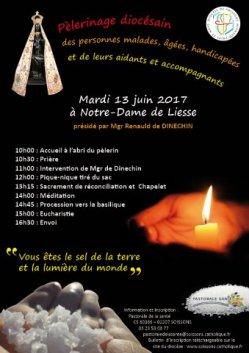 13 juin pèlerinage des malades à Notre Dame de Liesse