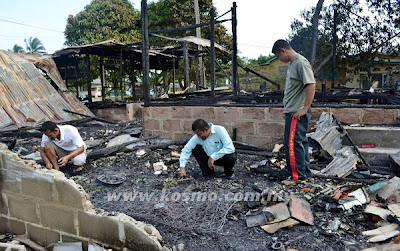 api, misteri, bakar, rumah, Kemaman, Kampung Beris Nenas, Kijal, Alias Ahmad, 43, Jenayah, Malaysia, Terengganu, berita