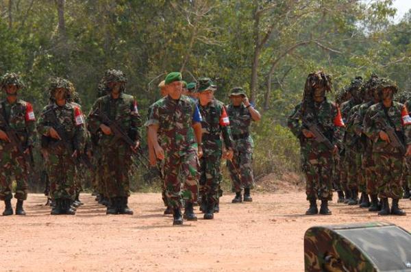 Latihan antarkecabangan TNI AD