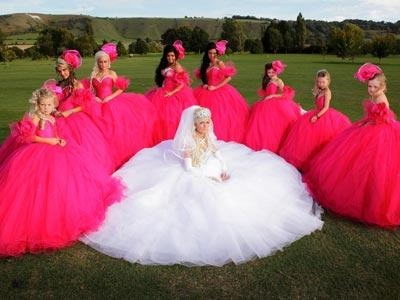 Princess Big Fat Gypsy Wedding Ball Gowns