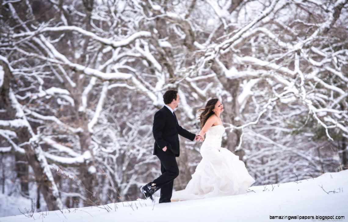 Matthew  Natasha Winter Snow Wedding Photos in Boone North