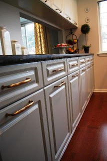 silver kitchen cabinets image