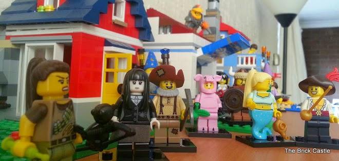 LEGO Series 12 minifigures in LEGO Creator Street