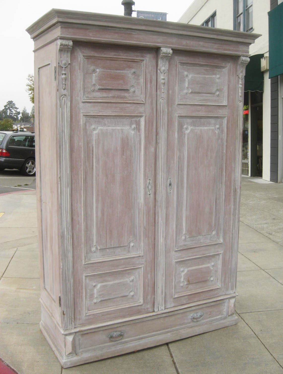 Marvelous photograph of UHURU FURNITURE & COLLECTIBLES: SOLD Shabby Chic Clothing Armoire  with #365959 color and 1140x1503 pixels