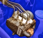 Anti-lock brake pump and valves
