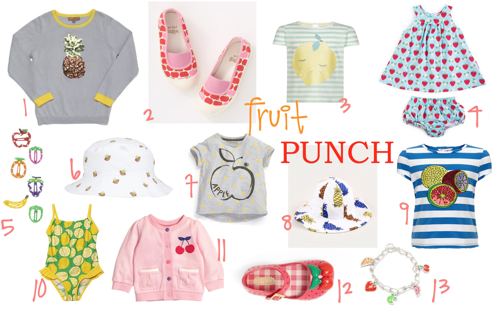 mamasVIB | V. I. BUYS: Time to get fruity! Fabulous & juicy fashion finds for little girls, Fruity fashion buys for little girls from the high street | V. I. BABY, fruit motifs, fruit prints, girls clothes, girls fashion, fashion, fashion trends, kids fashion, spring fashion, alexa and alexa | mothercare | debenhams | H&M | mini rod ini | claires | next | john lewis | boden | i love gorgeous | toby tiger | fruity buys | mamasVIB